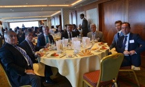 The presidential table of the luncheon-debate.